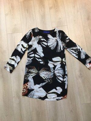 ANONYME Robe tunique noir-blanc