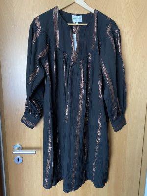Antik Batik Robe Babydoll noir-bronze