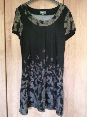 Apricot Gebreide jurk zwart-lichtbruin