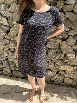 Armani Sukienka z krótkim rękawem czarny Bawełna