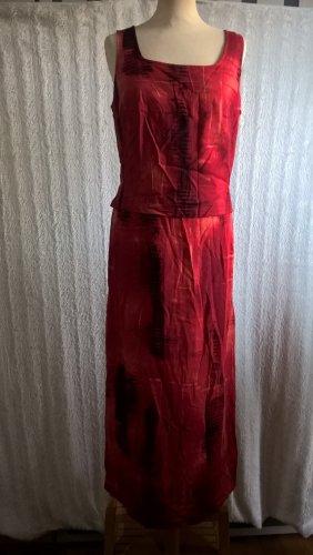 Barisal Robe longue rouge-noir viscose