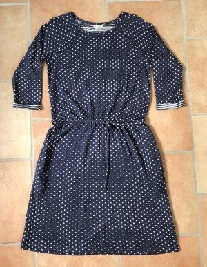 Boden Sweat Dress white-dark blue
