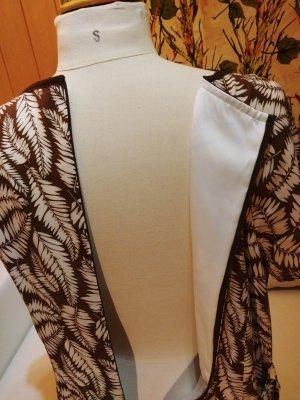 Boden Letnia sukienka biały-ciemnobrązowy Wiskoza