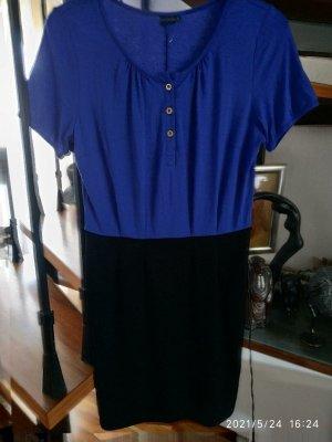 BODY FLIRT Robe t-shirt noir-bleu viscose