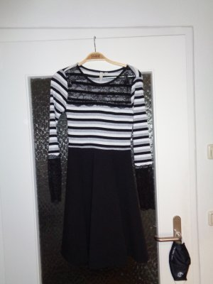 Bodyflirt Midi-jurk zwart-lichtgrijs