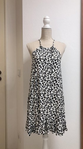 Boohoo Summer Dress black-white