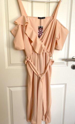 Boohoo Flounce Dress apricot