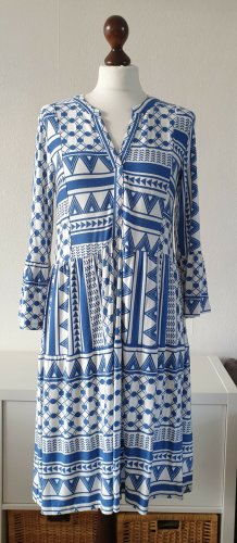 Kleid von Boysen's * Gr.36 * blau-weiß * mit Volants* Neu