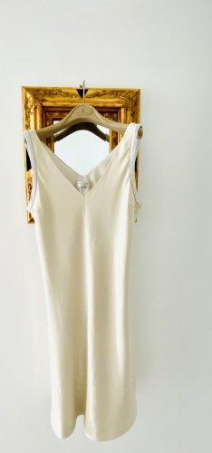 Brunello Cucinelli A Line Dress oatmeal-light grey cotton
