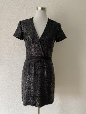 Burberry Cekinowa sukienka czarny-antracyt Wiskoza