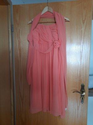 C&A Sukienka z dekoltem typu bandeau brzoskwiniowy