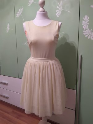 Clockhouse Chiffon Dress pale yellow