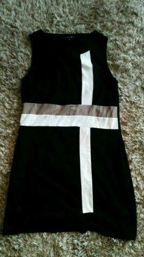 Kleid von Comma in Schwarz /Weiß /Beige Gr. 38