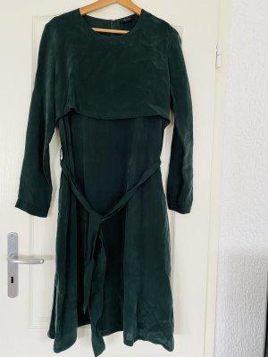 COS Vestido a media pierna verde oscuro-verde