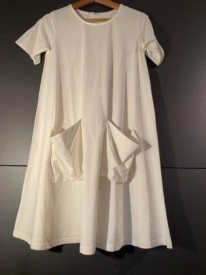 COS Shortsleeve Dress white-natural white