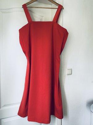 COS Vestido de manga corta rojo