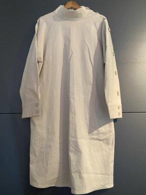 COS Vestido a media pierna beige claro-crema