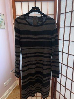 Cynthia Rowley Abito di maglia nero-grigio scuro Lana