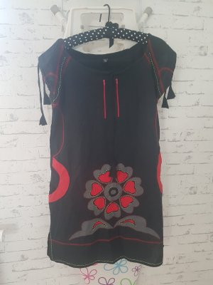 Dawanda Shirt Dress black-red