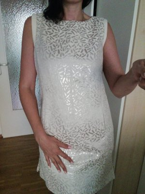 Debby Debo Cocktail Dress cream-silver-colored cotton