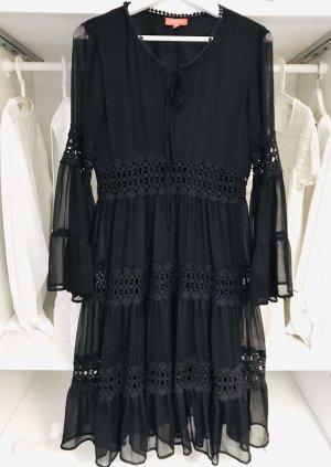 Derhy Chiffon jurk zwart