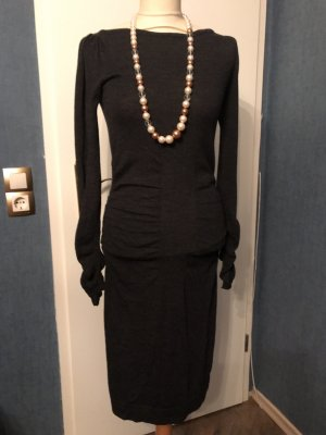 Kleid von Diane von Fürstenberg Grau Wolle Gr. S