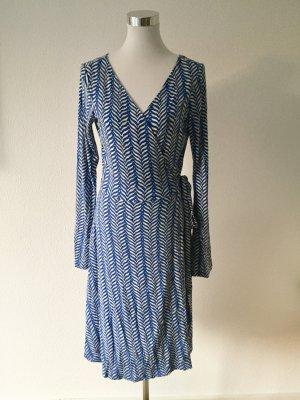 Diane von Furstenberg Wraparound steel blue-white