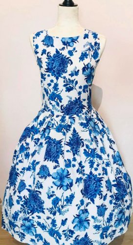 Dolly and Dotty Petticoat Dress white-blue