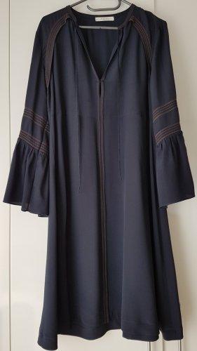 Dorothee Schumacher Vestido tipo túnica azul oscuro Seda