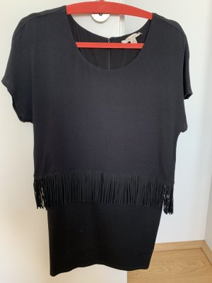 Ella Moss Fringed Dress black viscose