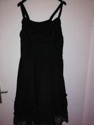 EMP Vestido estilo flounce negro