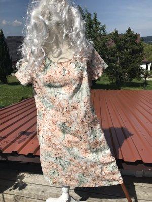 Esmara Abito a tunica albicocca-verde chiaro