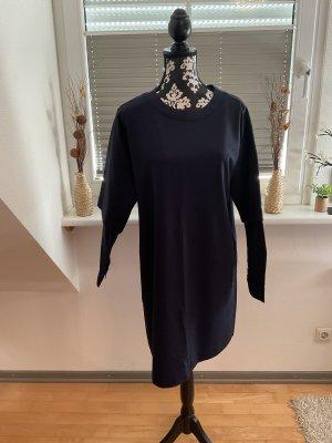 Esprit Vestido de manga larga azul oscuro Algodón