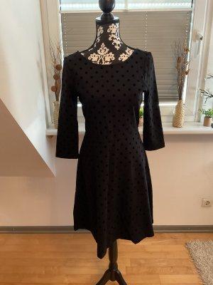 Esprit Vestido de manga larga negro Viscosa