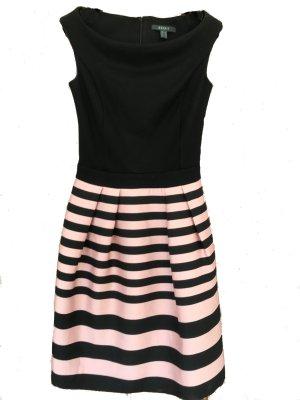 Kleid von Esprit schwarz rosa Cocktailkleid XS gestreift