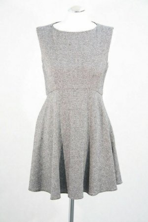 Kleid von French Connection mit 20% Virgin Wolle in Grau/meliert Gr. 36