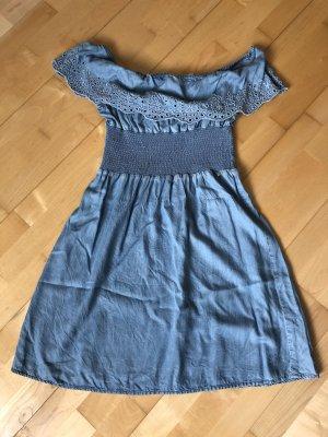 Guess Sukienka bez ramiączek błękitny