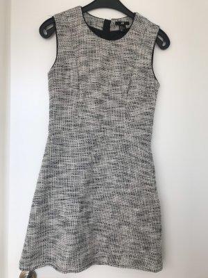 H&M Vestido ceñido de tubo blanco-negro