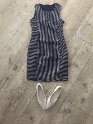 H&M Robe crayon blanc-bleu foncé