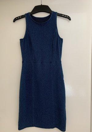 H&M Robe découpée bleu acier