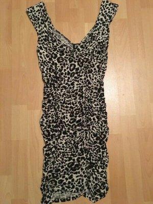 Kleid von H&M Animal Print Leopard Stretch Größe S M 36