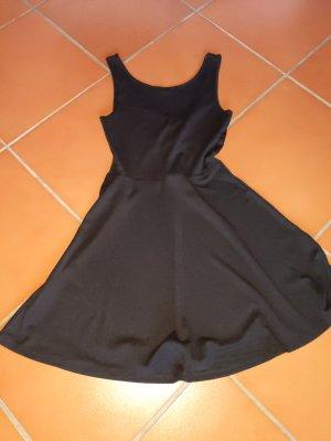 Kleid von h&m cutout rückenausschnitt Größe XS 34 schwarz rippenstruktur Stretch A-Linie