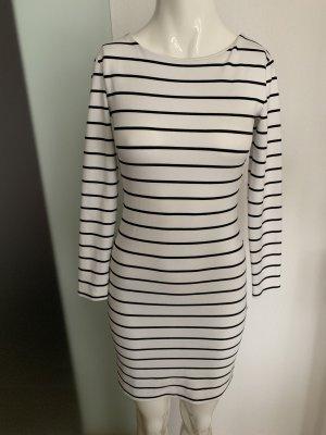 Kleid von H&M Gr 34 36 XS schwarz-weiß gestreift