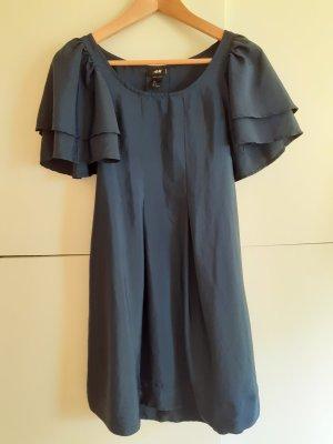 H&M Robe à manches courtes bleu