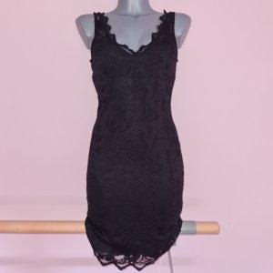 Kleid von H&M Spitzenkleid schwarz XS 34 stretch sehr elegant