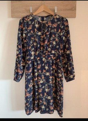 Kleid von Hallhuber, dunkelblau mit Blumenmuster