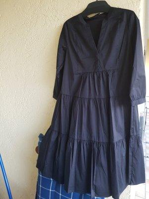 Hallhuber Sukienka z falbanami czarny