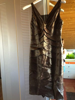 Kleid von Heine braun glänzend