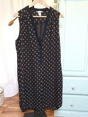 HM Vestido tipo blusón negro-color bronce