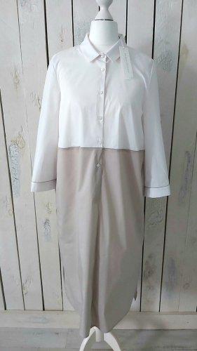 Kleid von Hubert Gasser beige weiß Gr. 36 Neu m. Etikett